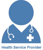 HaDSCO Icon for Health Service Providers  with text