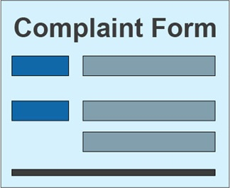 Drawing representing a Complaint Form